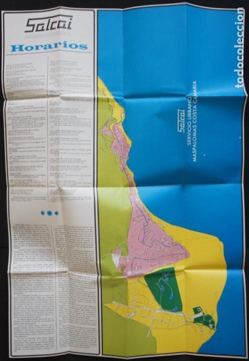 Folletos de turismo: Folleto autobuses (Guagua) Salcai de Gran Canaria: Lineas, horarios, mapa, plano callejero - Foto 6 - 107738855