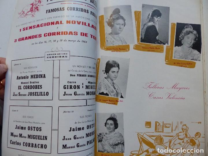 Folletos de turismo: LIBRO FALLERO - AÑO 1963 - FALLAS VALENCIA - Foto 7 - 108898083