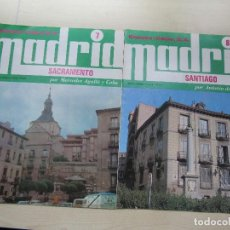 Folletos de turismo: DOS FASCÍCULOS DE MADRID EDITADOS POR ESPASA CALPE EN 1978 SACRAMENTO Y SANTIAGO. Lote 108906095