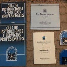 Folletos de turismo: LOTE DE GUIA INSTRUCCIONES DE SERVICIO ETC AÑOS 70. Lote 109113003