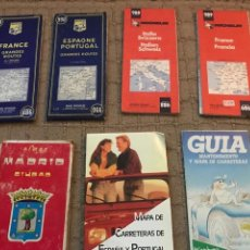Folletos de turismo: LOTE DE MAPAS ANTIGUOS. Lote 109113399