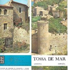 Folletos de turismo: FOLLETO TURISTICO DE TOSSA DE MAR. Lote 109193439