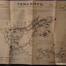 Folletos de turismo: ANTIGUO MAPA – FOLLETO TURÍSTICO DE TENERIFE, CON CALLEJERO DE SANTA CRUZ. AÑOS 60. Lote 109508271