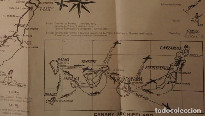 Folletos de turismo: Antiguo Mapa – Folleto turístico de Tenerife, con callejero de Santa Cruz. Años 60 - Foto 3 - 109508271