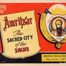 Folletos de turismo: AMRITSAR- THE SACRED CITY OF THE SIKHS. INDIA. Lote 109551667