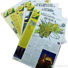 Folletos de turismo: 22 FOLLETOS DE LA HOYA DE HUESCA TAMAÑO A4 2001 VER IMAGENES + FOLLETOS TURISTICOS DE REGALO. Lote 110044827