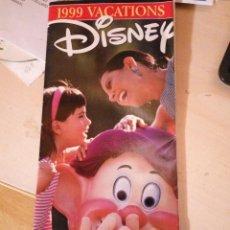 Folletos de turismo: 1999 VACATIONS - DISNEY ORLANDO. Lote 111284611