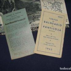 Folletos de turismo: BALNEARIO PANTICOSA. 3 IMPRESOS. PERFECTO ESTADO.. Lote 112347027