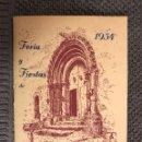 Folletos de turismo: LIRIA/LLIRIA FERIA Y FIESTAS DE SAN MIGUEL (A.1954). Lote 113025814