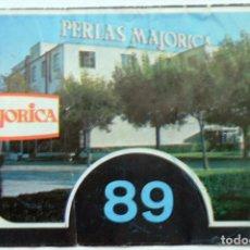 Folletos de turismo: PALMA DE MALLORCA MANACOR PERLAS MAJORICA, FOLLETO PLANO 1989. Lote 113389535