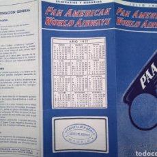 Folletos de turismo: PAN AMERICAN WORLD AIRWAYS. PAA LA RED AEREA DE CLIPPERS. AÑO 1951. Lote 113492846