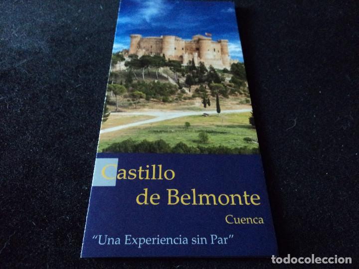 TRIPTICO INFORMATIVO DEL CASTILLO DE BELMONTE EN CUENCA (Coleccionismo - Folletos de Turismo)