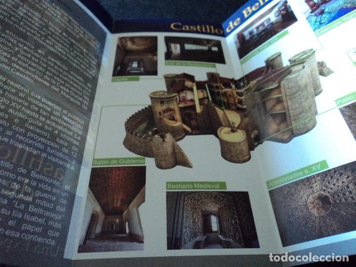 Folletos de turismo: triptico informativo del castillo de belmonte en cuenca - Foto 2 - 195458482