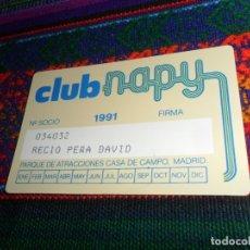 Folletos de turismo: FOTOPARQUE Y CARNET SOCIO CLUB NAPY PARQUE DE ATRACCIONES DE MADRID, CASA DE CAMPO. 1991. MBE.. Lote 54672865