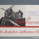 Folletos de turismo: MUY RARO ! FOLLETO AVIONES DE LA AEROLINIA LUFTHANSA A.G. III REICH. JUNKERS. HEINKEL.... Lote 114822159