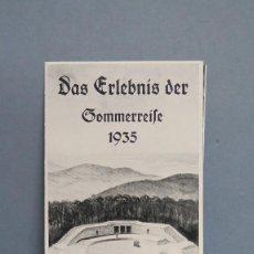 Folletos de turismo: FOLLETO. DAS ERLEBNIS DER SOMMERREISE. 1935. Lote 114826911
