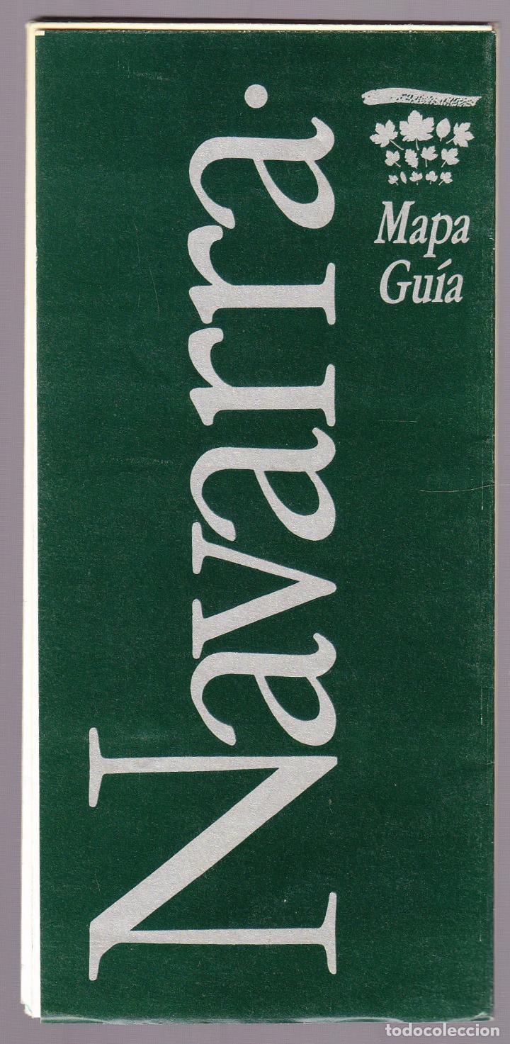 FOLLETO TURISMO - MAPA GUIA - NAVARRA (Coleccionismo - Folletos de Turismo)