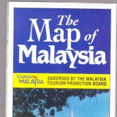 Folletos de turismo: FOLLETO TURISMO - MAPA - MALAYSIA. Lote 115718731