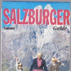 Folletos de turismo: FOLLETO TURISMO - MAPA GUIA - SALZBURGER. Lote 115719475
