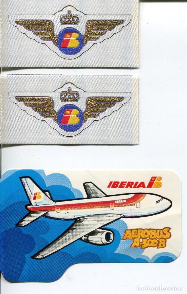LINEAS AÉREAS IBERIA- 3 ETIQUETAS ADHESIVAS AÑOS 70-80 -MUY RARAS (Coleccionismo - Folletos de Turismo)