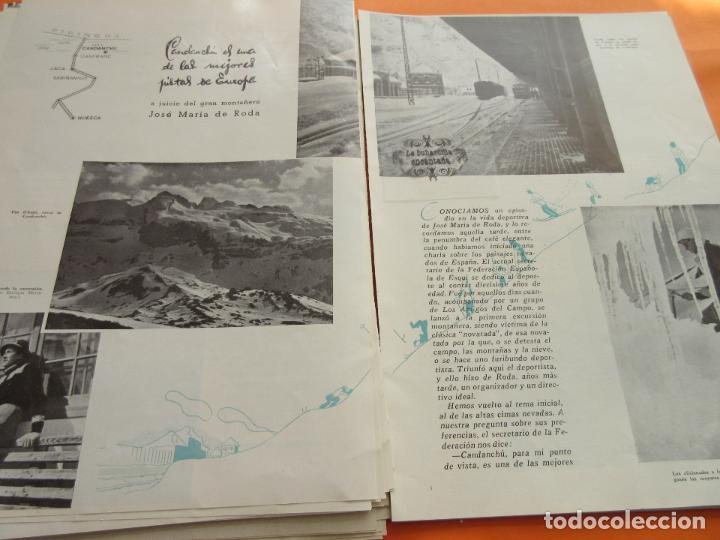 ARTICULO 1945 - CANDANCHU UNA DE LAS MEJORES PISTAS ESQUI ESPAÑA CANFRANC ESTACION (Coleccionismo - Folletos de Turismo)