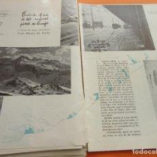 Folletos de turismo: ARTICULO 1945 - CANDANCHU UNA DE LAS MEJORES PISTAS ESQUI ESPAÑA CANFRANC ESTACION. Lote 116813655
