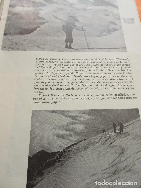 Folletos de turismo: ARTICULO 1945 - CANDANCHU UNA DE LAS MEJORES PISTAS ESQUI ESPAÑA CANFRANC ESTACION - Foto 3 - 116813655