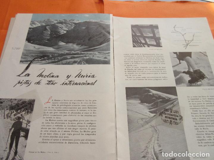 ARTICULO 1945 - LA MOLINA Y NURIA PISTAS DE TONO INTERNACIONAL (Coleccionismo - Folletos de Turismo)