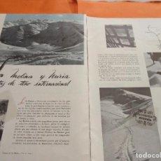 Folletos de turismo: ARTICULO 1945 - LA MOLINA Y NURIA PISTAS DE TONO INTERNACIONAL. Lote 116814903