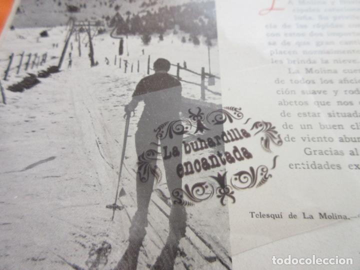 Folletos de turismo: ARTICULO 1945 - LA MOLINA Y NURIA PISTAS DE TONO INTERNACIONAL - Foto 3 - 116814903
