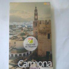 Folletos de turismo: CAMINOS DE PASION.MAPA.IMAGENES LUGARES .TURISMO ANDALUZ CARMONA.SEVILLA. Lote 117266859
