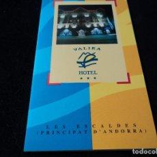 Folletos de turismo: TRIPTIC VALIRA HOTEL LES ESCALDES ANDORRA. Lote 117338959