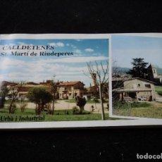 Folletos de turismo: PLANO E INFORMACION CALLDETENES ST. MARTI DE RIUDEPERES. Lote 117367211
