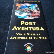 Folletos de turismo: PLANO E INFORMACION PORT AVENTURA. Lote 119038894