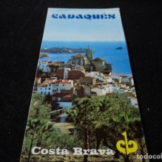 Folletos de turismo: PLANO E INFORMACION CADAQUES . Lote 117367767
