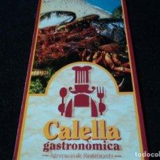 Folletos de turismo: CALELLA GASTRONOMICA AGRUPACIO DE RESTAURANTS . Lote 117445363