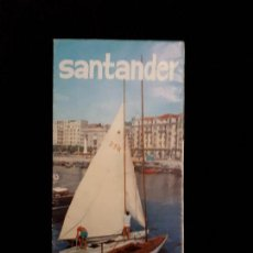 Folletos de turismo: FOLLETO TURISMO SANTANDER CON MAPA DESPLEGABLE. Lote 117928647