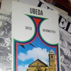 Folletos de turismo: UBEDA. Lote 118527071