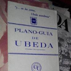 Folletos de turismo: PLANO GUIA DE UBEDA. Lote 118527251