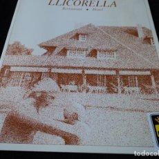 Folletos de turismo: HOTEL RESTAURANT LLICORELLA EN CUBELLAS. Lote 118615223