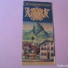 Folletos de turismo: FOLLETO, GUIA TURISTICA DE OBERAMMERGAU. ALEMANIA. AÑOS 50.. Lote 118715911