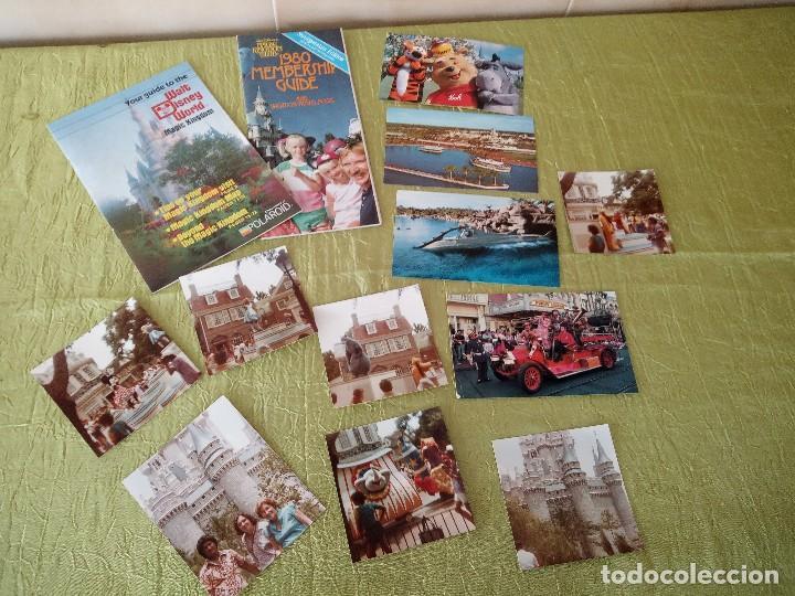 WALT DISNEY WORLD MAGIC KINGDON,LOTE DE FOLLETOS POSTALES Y FOTOS DE LOS AÑOS 79/80 (Coleccionismo - Folletos de Turismo)