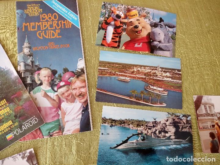 Folletos de turismo: walt disney world magic kingdon,lote de folletos postales y fotos de los años 79/80 - Foto 3 - 118833359