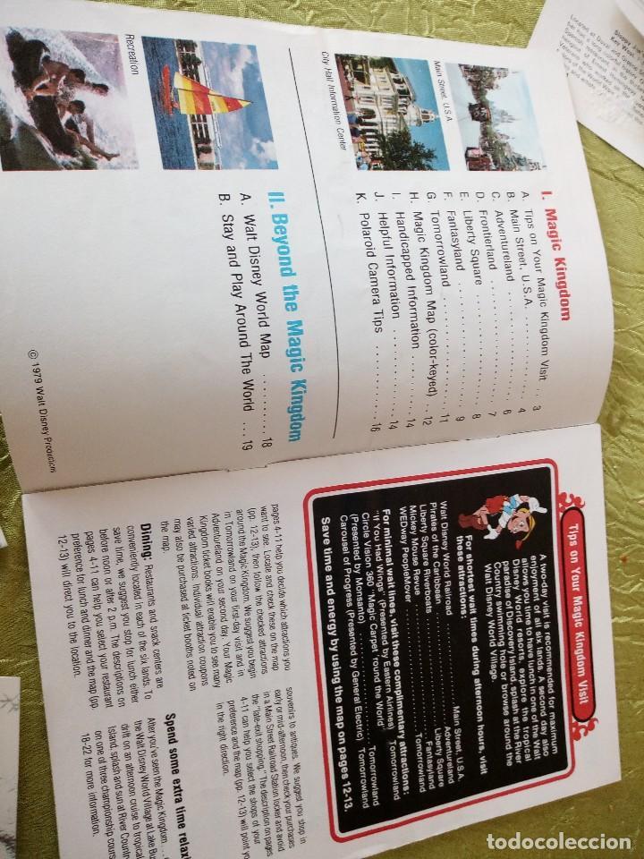 Folletos de turismo: walt disney world magic kingdon,lote de folletos postales y fotos de los años 79/80 - Foto 11 - 118833359