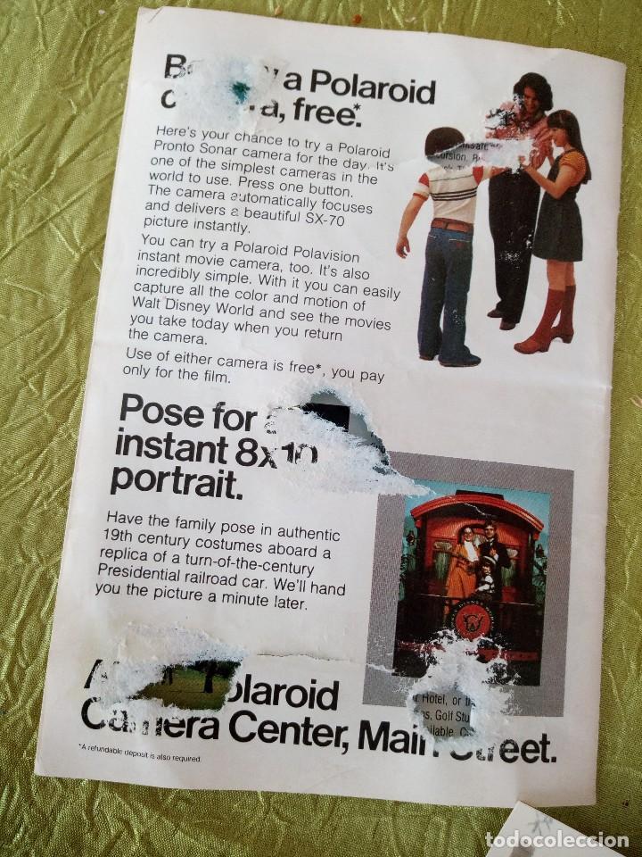 Folletos de turismo: walt disney world magic kingdon,lote de folletos postales y fotos de los años 79/80 - Foto 15 - 118833359