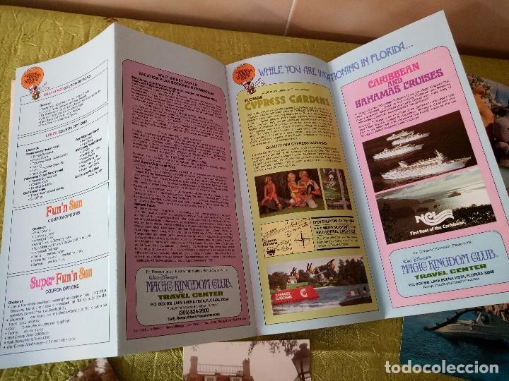 Folletos de turismo: walt disney world magic kingdon,lote de folletos postales y fotos de los años 79/80 - Foto 16 - 118833359