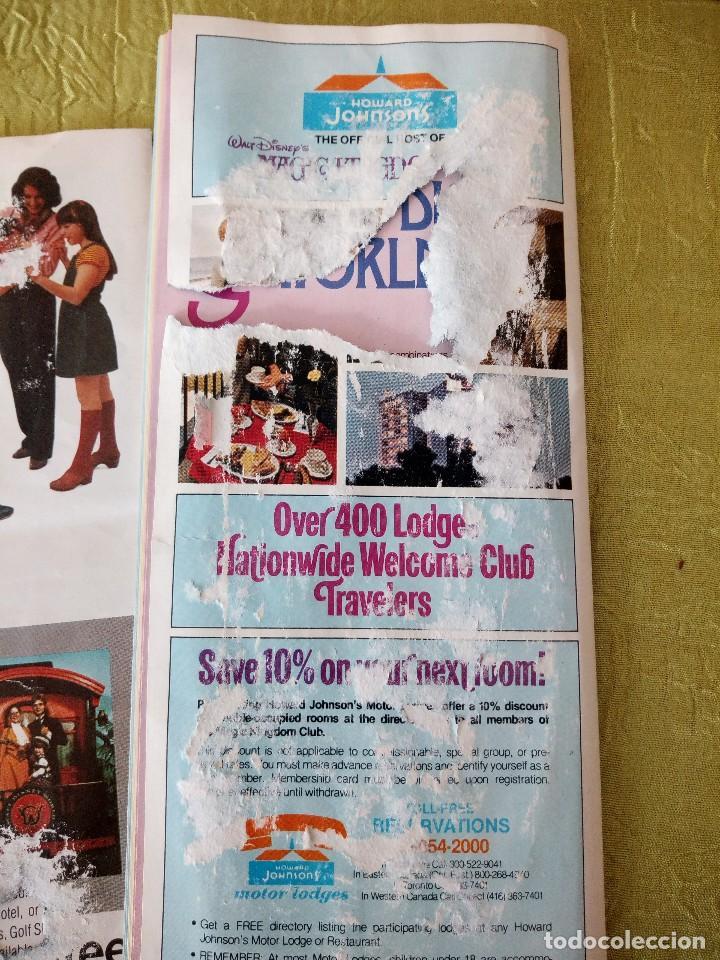 Folletos de turismo: walt disney world magic kingdon,lote de folletos postales y fotos de los años 79/80 - Foto 20 - 118833359
