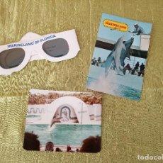 Folletos de turismo: MARINELAND OF FLORIDA,LOTE DE GAFAS 3 D,POSTAL Y FOTOGRAFÍA,AÑOS 70/80. Lote 118833811