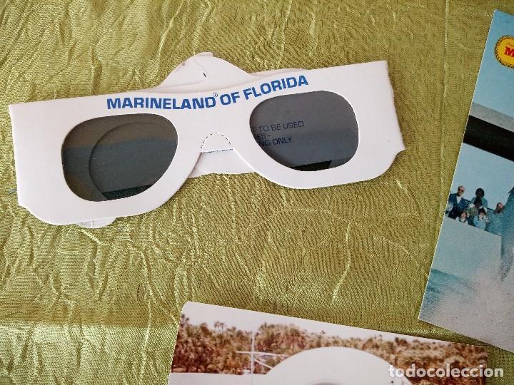 Folletos de turismo: marineland of florida,lote de gafas 3 d,postal y fotografía,años 70/80 - Foto 2 - 118833811