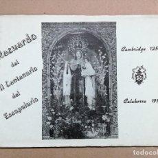 Folletos de turismo: LIBRITO VII CENTENARIO DEL ESCAPULARIO -CAMBRIDGE 1251 CALAHORRA 1951.VIRGEN DEL CARMEN. Lote 118984259